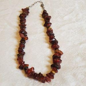 Silpada Rare Retired Mutli Color Amber Necklace